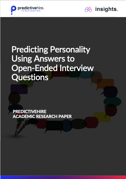 Research Paper Front Cover - Personality 2